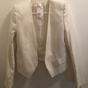 *Brand New* H&M White Blazer with tags!